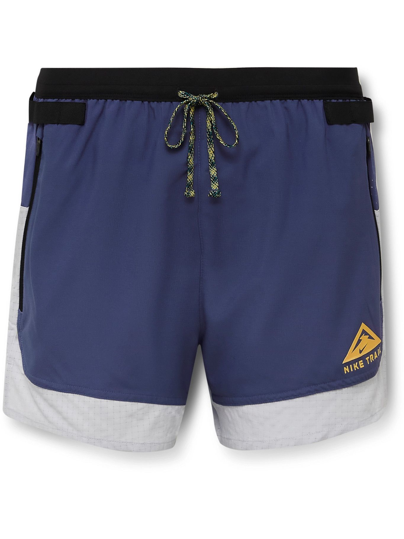 Photo: NIKE RUNNING - Flex Stride Dri-FIT Ripstop Shorts - Purple