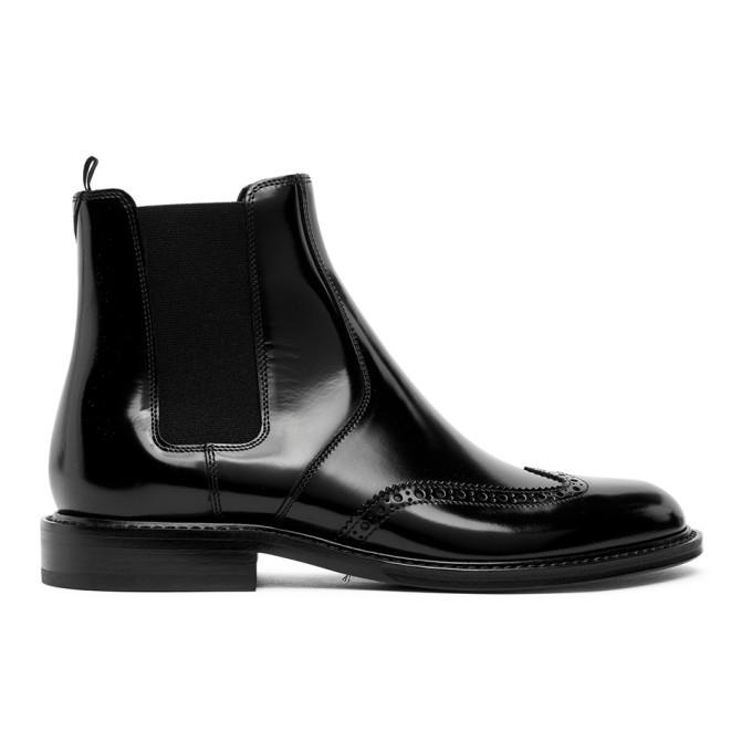 Photo: Saint Laurent Black Leather Chelsea Boots