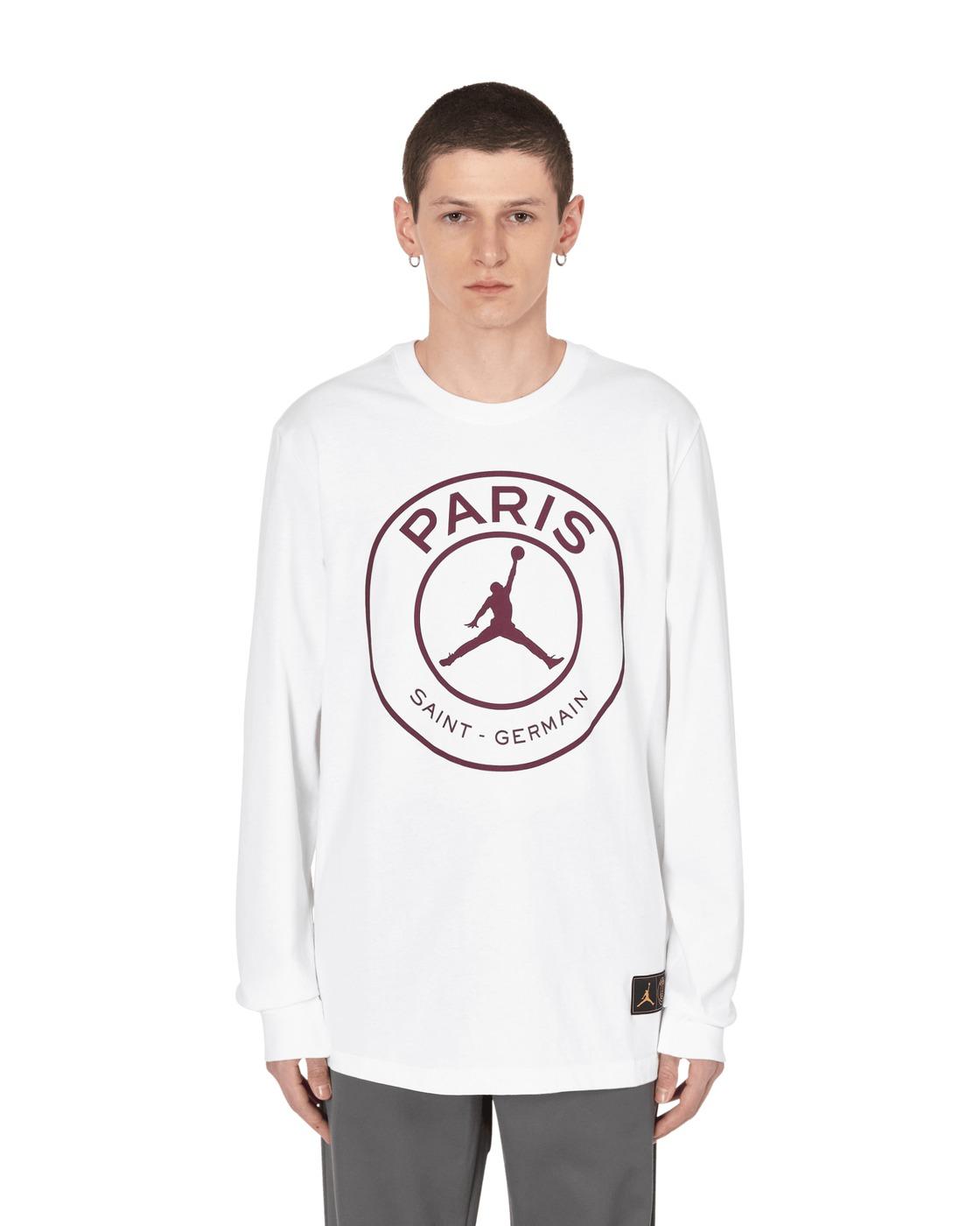 Nike Jordan Paris Saint Germain Longsleeve T Shirt White