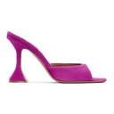 Amina Muaddi Pink Pony Caroline Slipper Heels