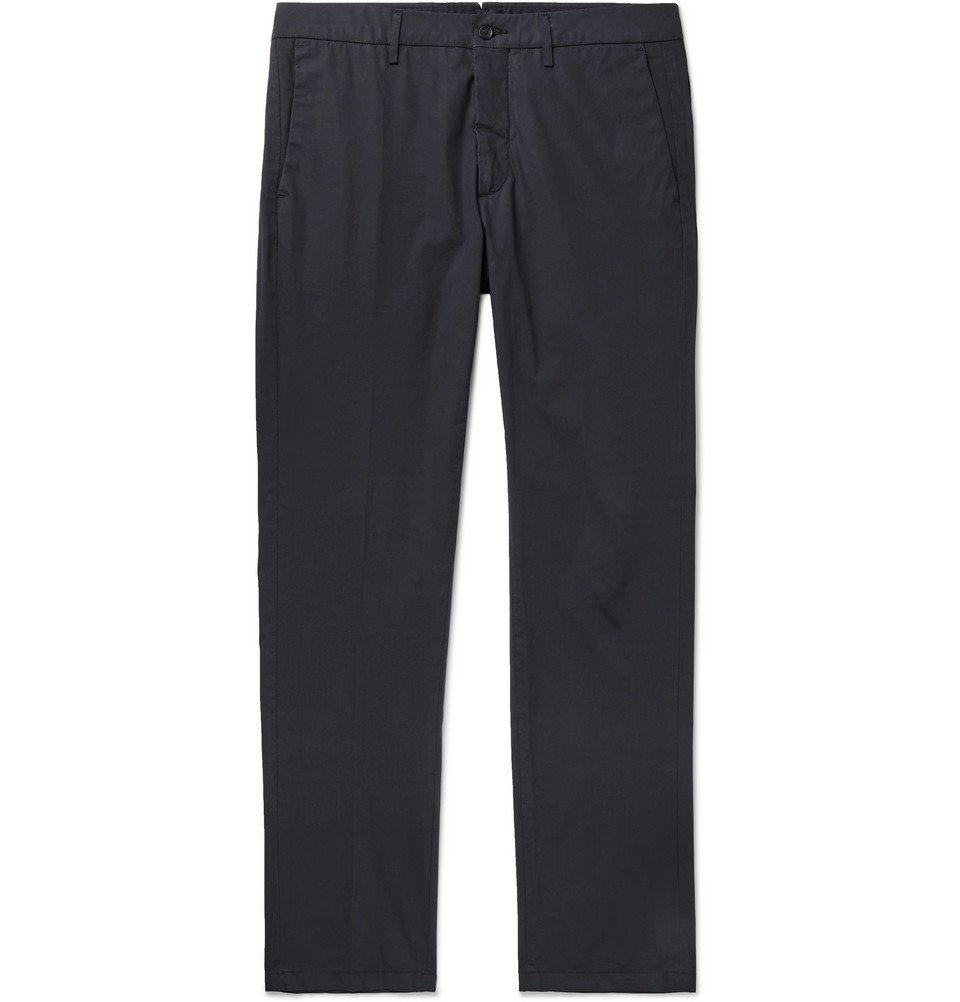 Photo: Dunhill - Slim-Fit Stretch-Cotton Chinos - Navy
