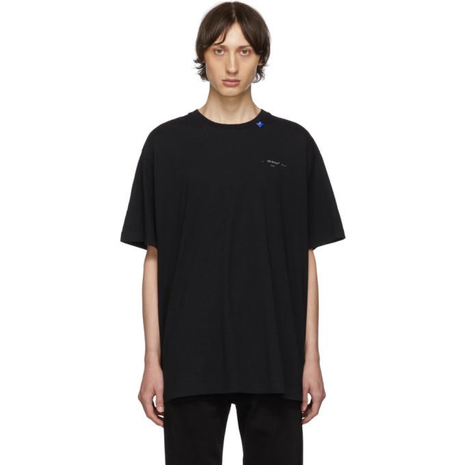 Photo: Off-White Black and Silver Oversized Backbone T-Shirt