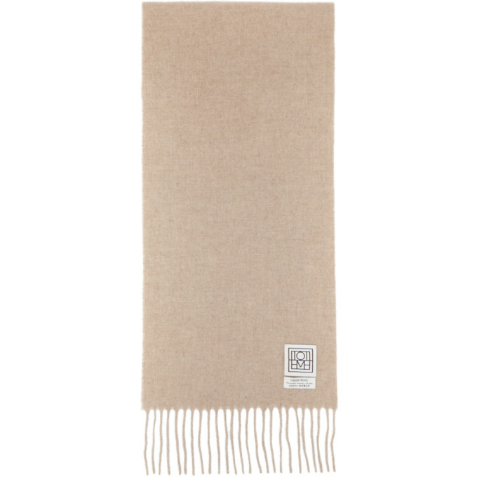Photo: Toteme Beige Wool Bova Scarf