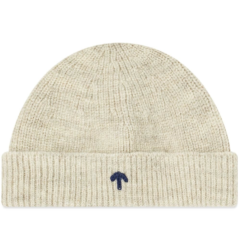 2bd4fe95cbe Nigel Cabourn Embroidered Broad Arrow Beanie Light Grey Natural ...