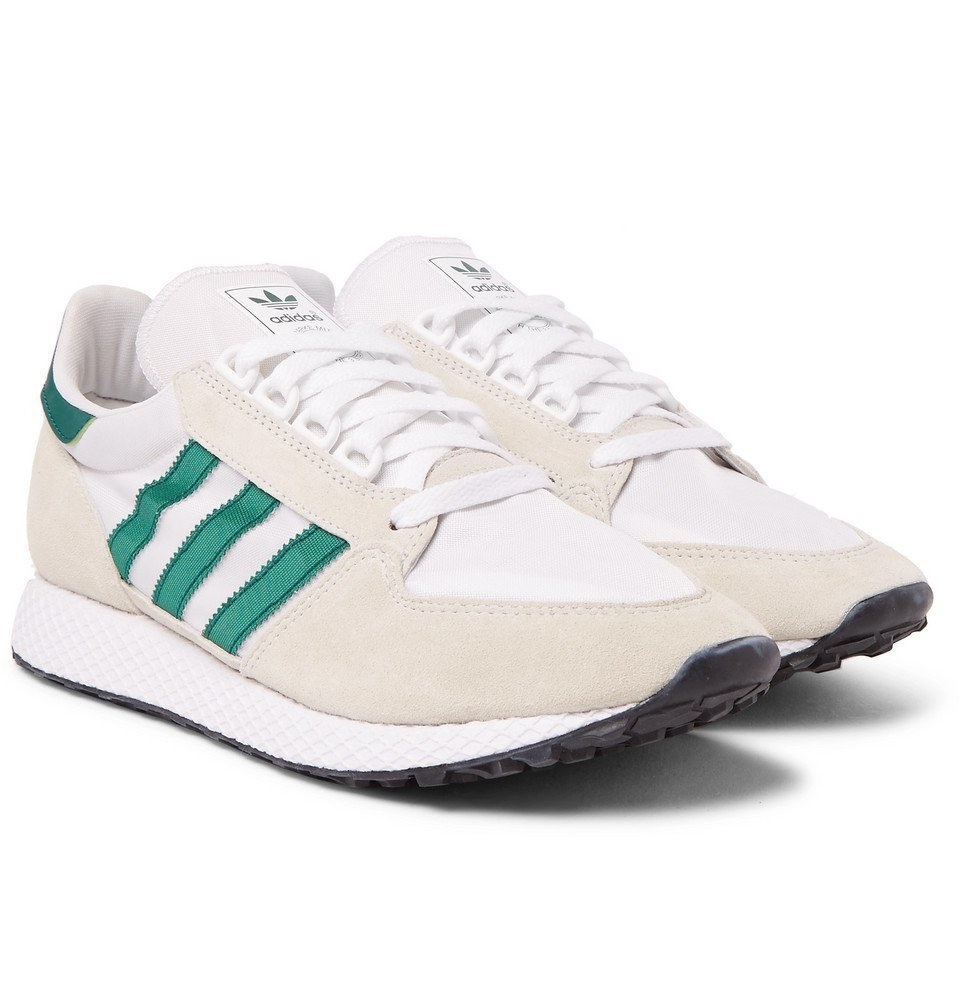 adidas Originals - Forest Grove Suede and Mesh Sneakers - Men - White