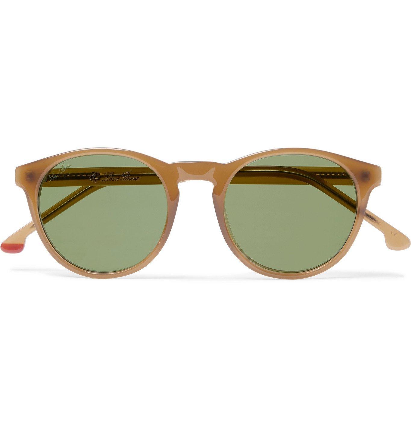 Photo: Loro Piana - Maremma Round-Frame Acetate Sunglasses - Brown
