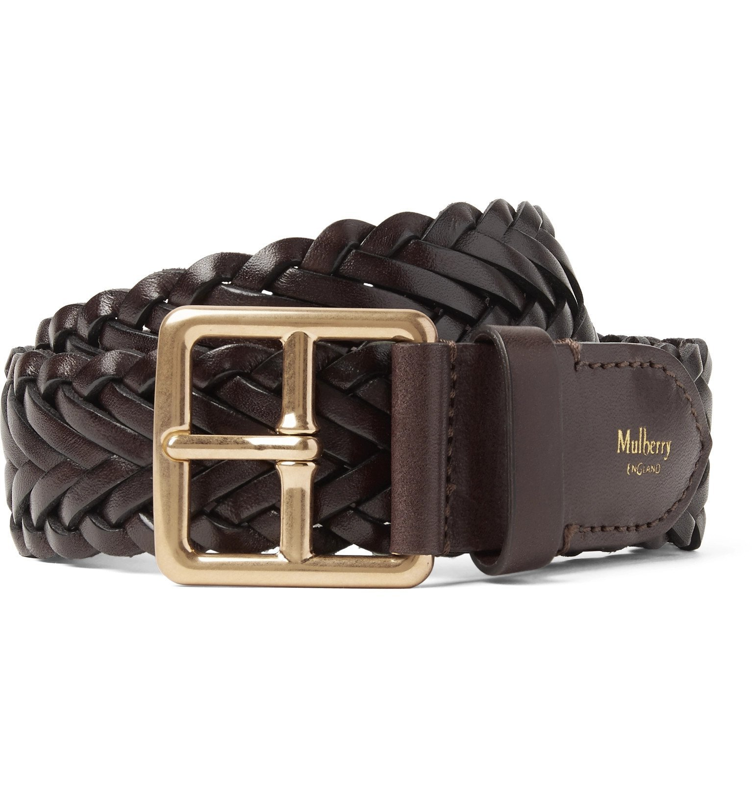 Photo: Mulberry - 4cm Brown Woven Leather Belt - Brown