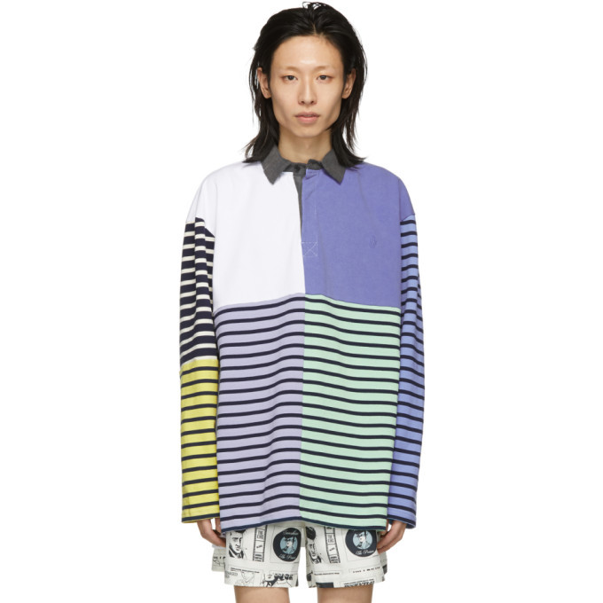 Photo: JW Anderson Blue Patchwork Rugby Polo