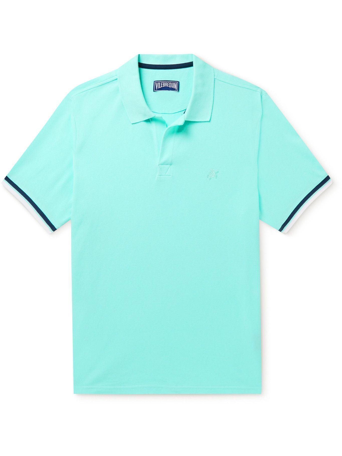 Photo: Vilebrequin - Palatin Slim-Fit Cotton-Piqué Polo Shirt - Blue