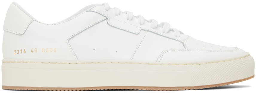 Photo: Common Projects White Tennis Low Sneakers
