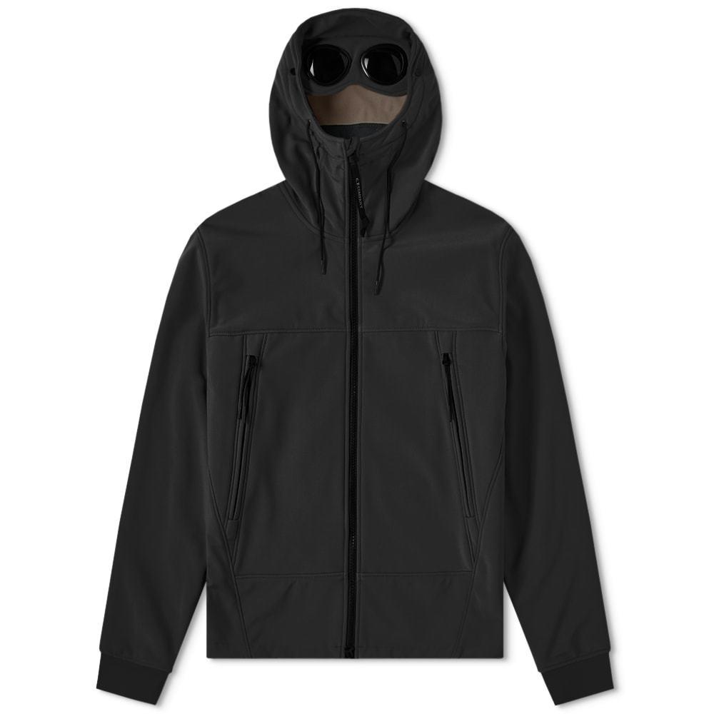 C.P. Company Soft Shell Goggle Jacket Black