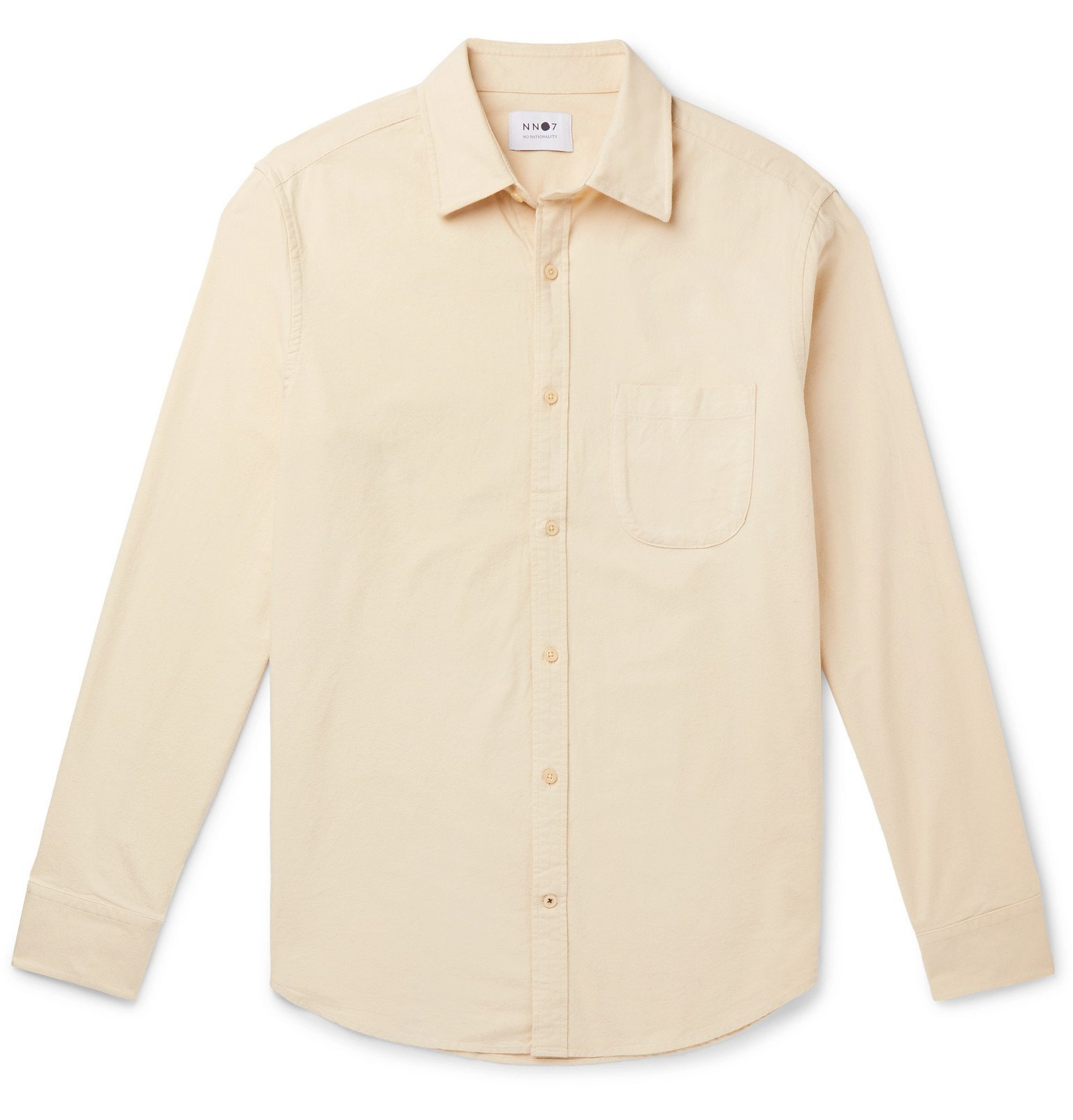 Photo: NN07 - Brushed-Cotton Oxford Shirt - Neutrals