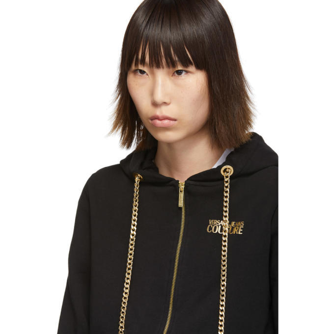 Versace Jeans Couture Black Curb Chain Hoodie