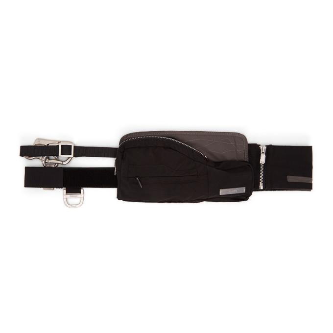 Photo: C2H4 Black Tactical Double Bands Belt Bag