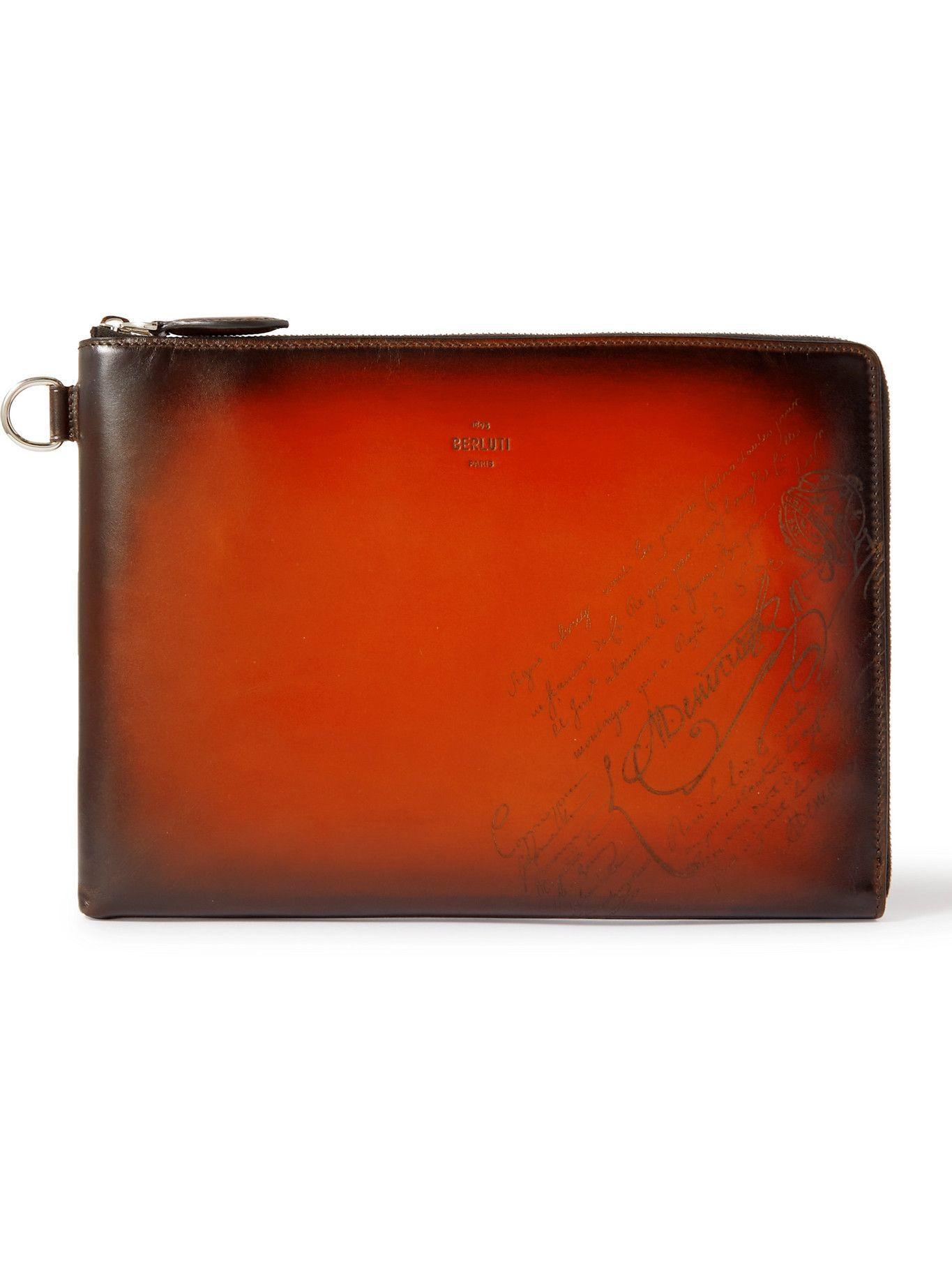Photo: Berluti - Scritto Leather Pouch
