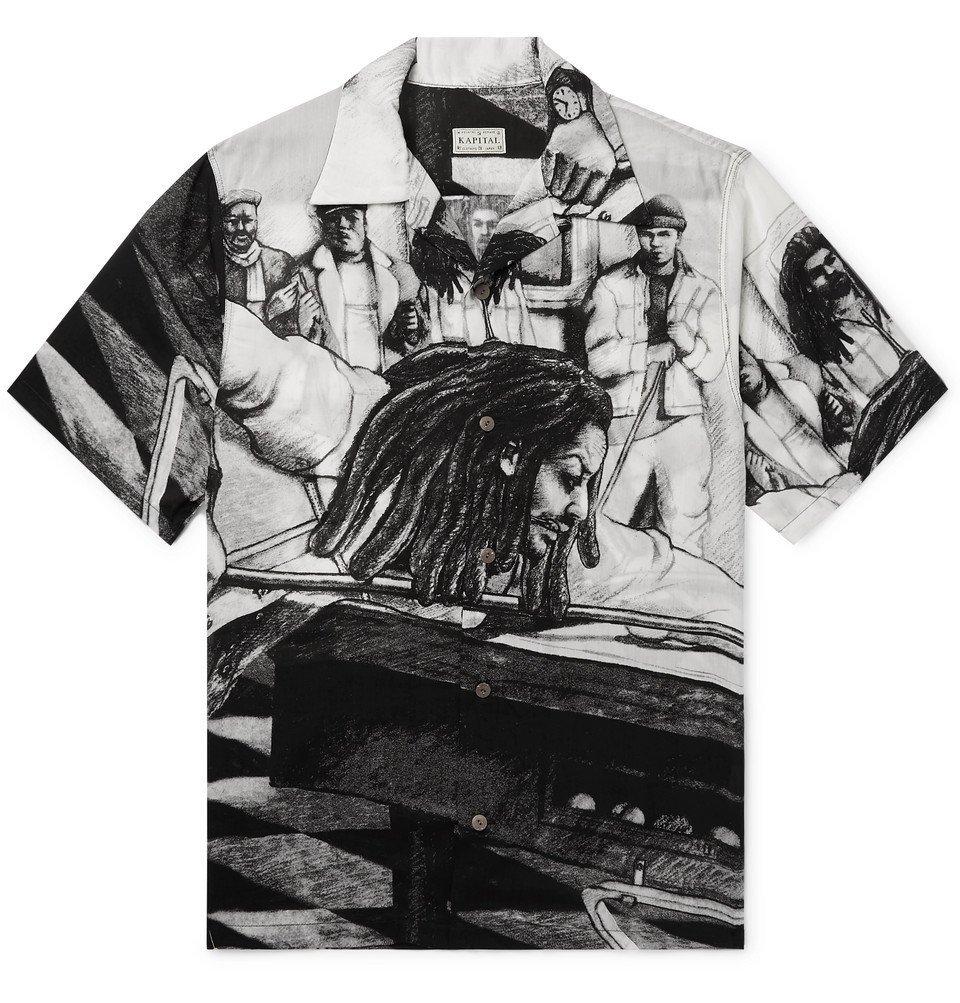 Photo: KAPITAL - Bob Marley Camp-Collar Printed Woven Shirt - White
