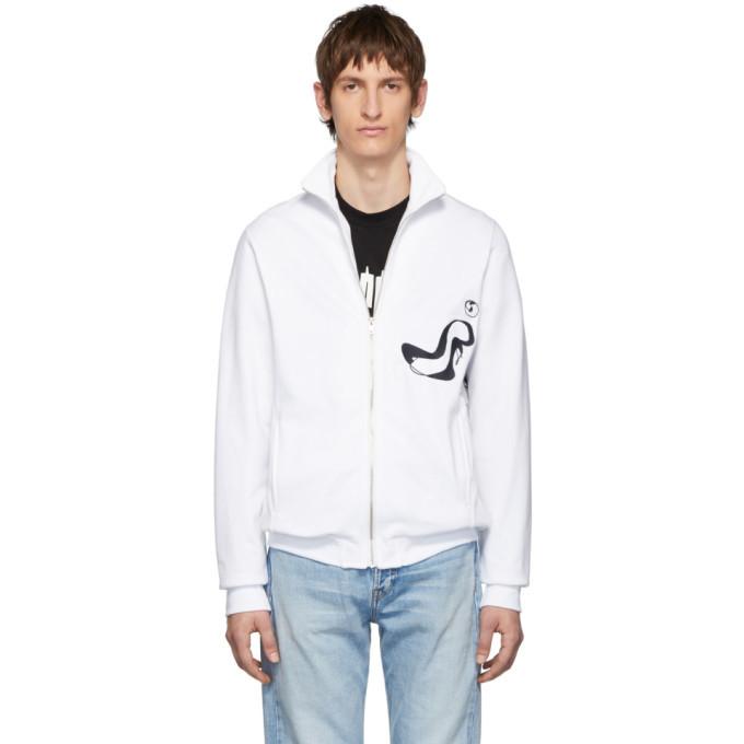 Photo: Serapis White Embroidery Sketches Track Sweatshirt