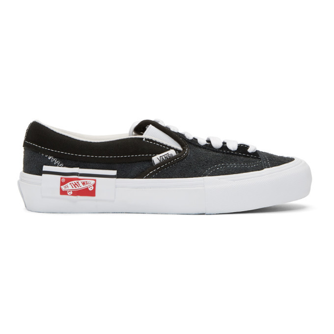 Photo: Vans Black Cap LX Slip-On Sneakers