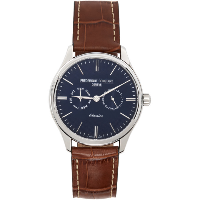 Photo: Frederique Constant Silver and Brown Classics Gents Quartz Watch