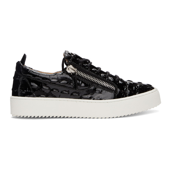 Photo: Giuseppe Zanotti Black Vernischa May London Sneakers