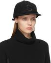 Sacai Black Logo Tweed Cap