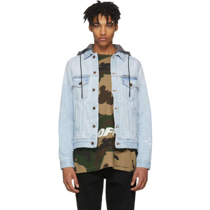 Photo: Off-White Blue Denim Hoodie Jacket