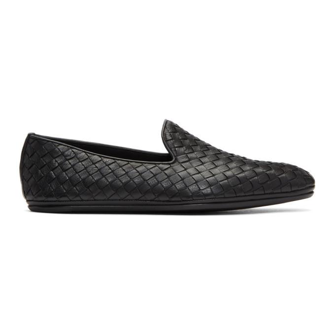 Photo: Bottega Veneta Black Intrecciato Loafers