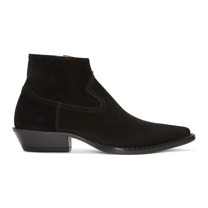 Photo: Maison Margiela Black Suede Santiag Boots