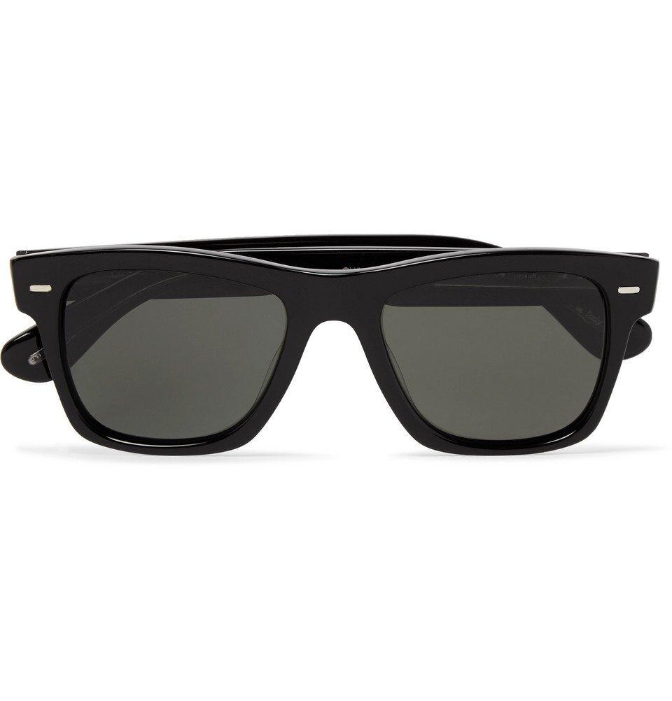 Photo: Oliver Peoples - Oliver Sun Square-Frame Acetate Polarised Sunglasses - Black