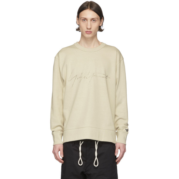 Photo: Y-3 Off-White Distressed Signature Sweatshirt