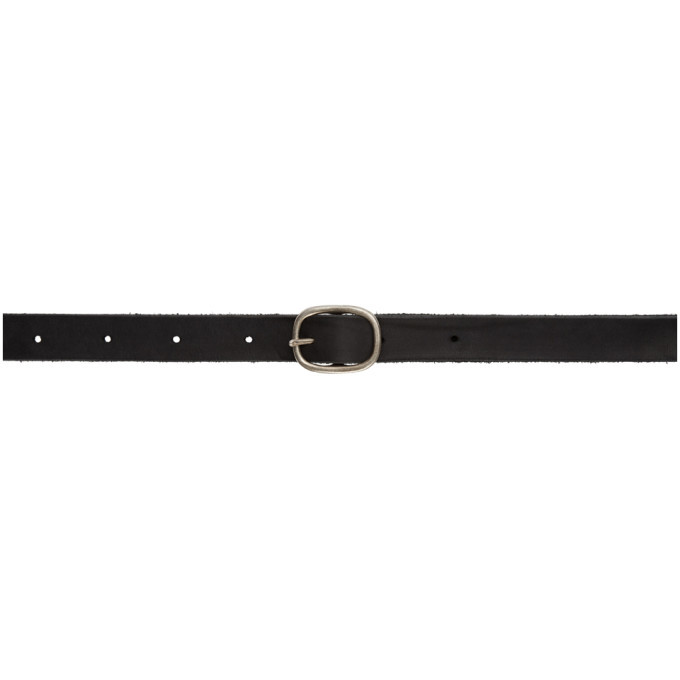 Photo: Boris Bidjan Saberi Black Leather and Sterling Silver Buckle Belt