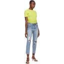 Ksubi Blue Ripped Slim Pin Jeans