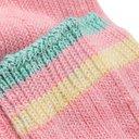 KAPITAL - Ivy Smilie Striped Cotton and Hemp-Blend Socks - Pink