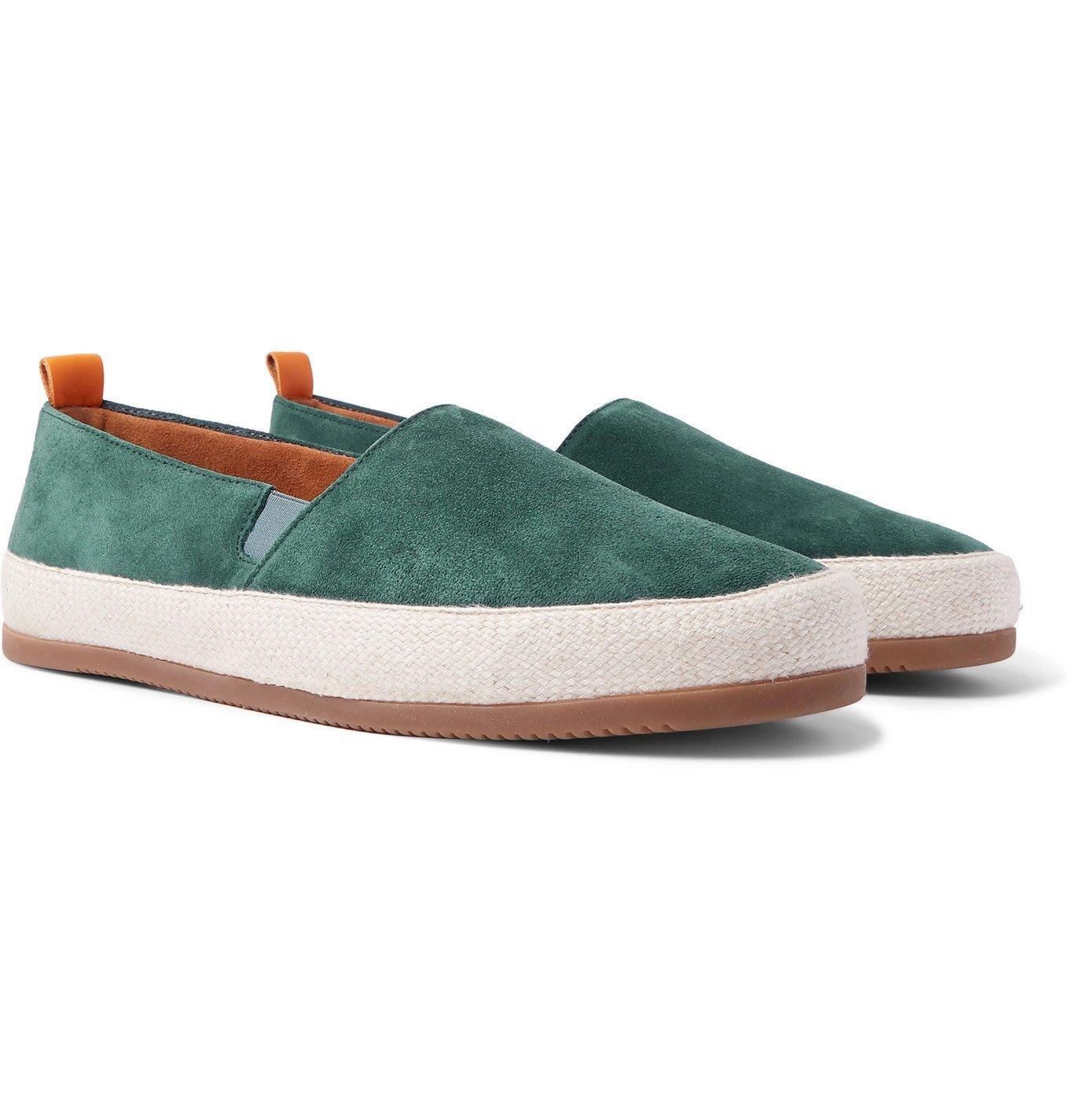 Photo: Mulo - Suede Slip-On Sneakers - Blue