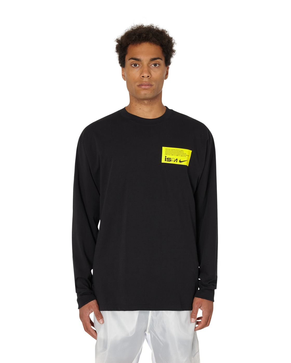 Nike Special Project Nrg Ispa Long Sleeve T Shirt Black/Opti Yellow