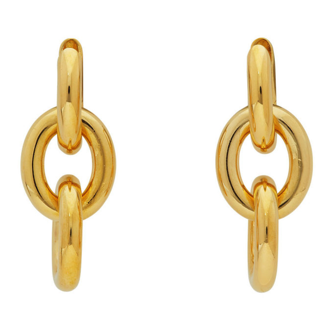 Photo: Bottega Veneta Gold Drop Chain Earrings