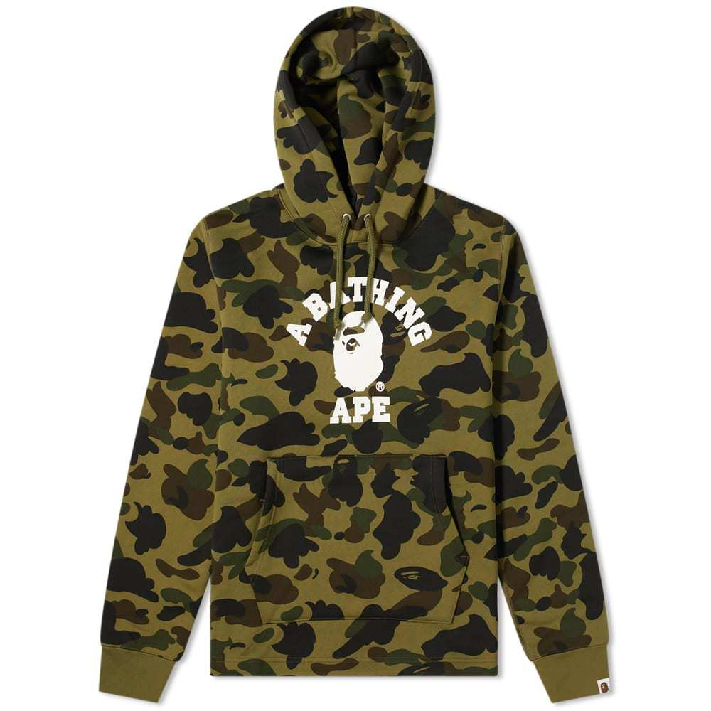 Photo: A Bathing Ape 1st Camo College Wide Pullover Hoody