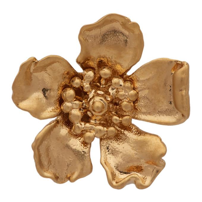 Photo: Jacquemus Gold Goldia Fleur Single Earring