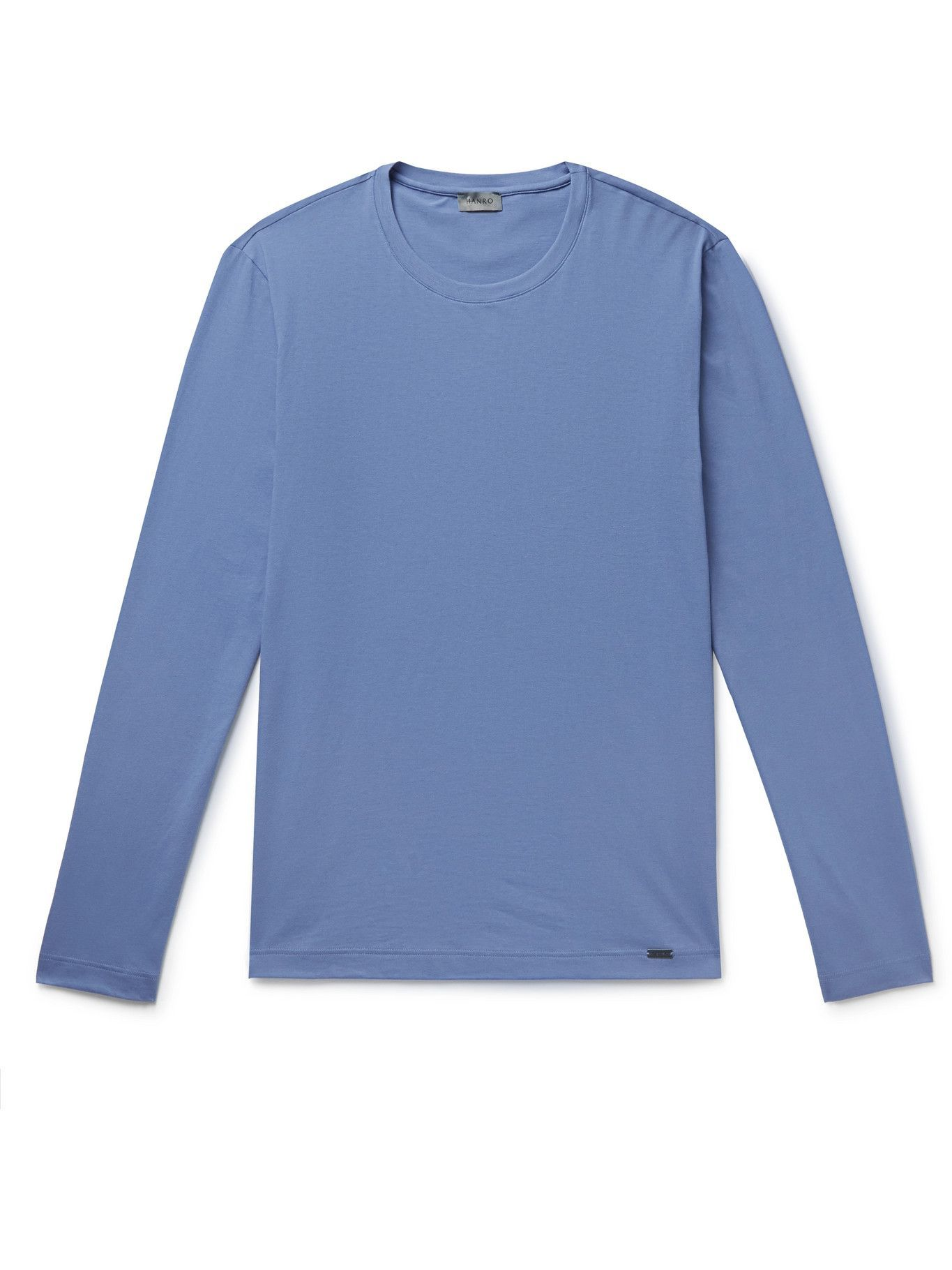 Photo: Hanro - Cotton-Jersey Pyjama T-Shirt - Blue