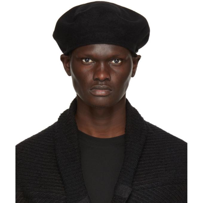 Photo: Julius Black Wool Melton Beret