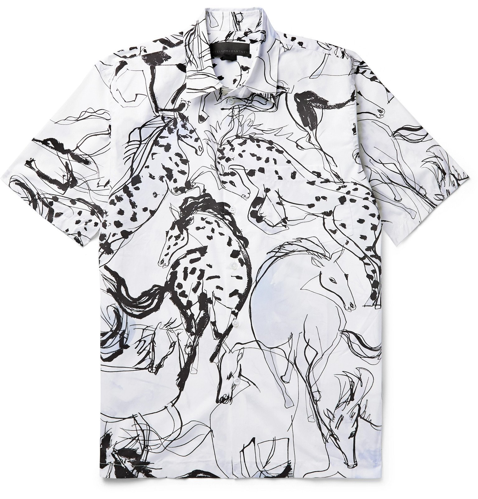 Photo: Stella McCartney - Ricardo Printed Cotton-Poplin Shirt - White