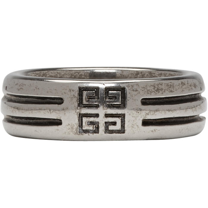 Photo: Givenchy Silver Double Row 4G Ring
