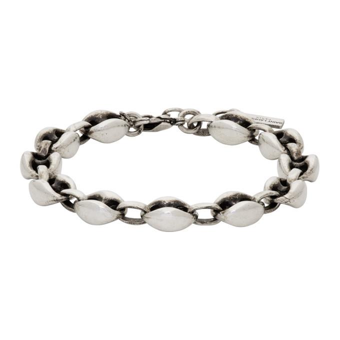 Photo: Saint Laurent Silver Oxided Cable Chain Bracelet