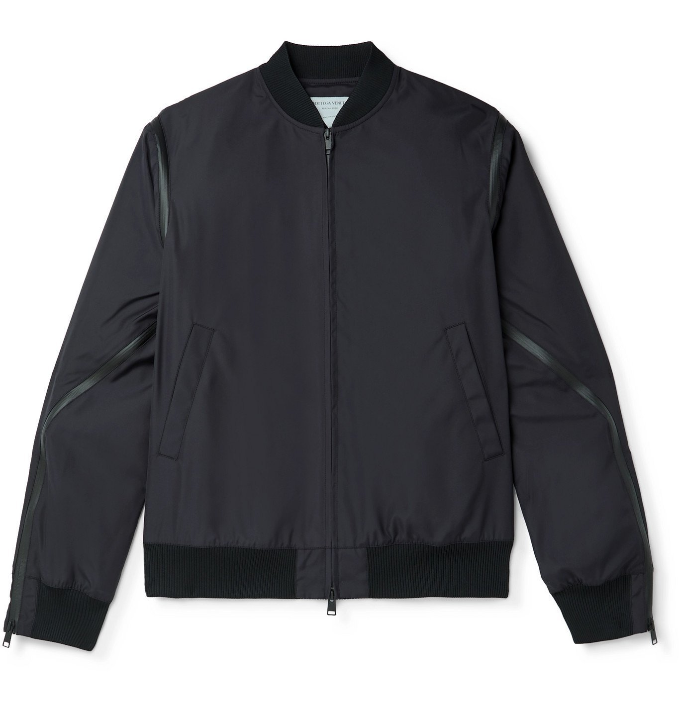 Photo: Bottega Veneta - Zip-Detailed Padded Tech-Canvas Bomber Jacket - Black