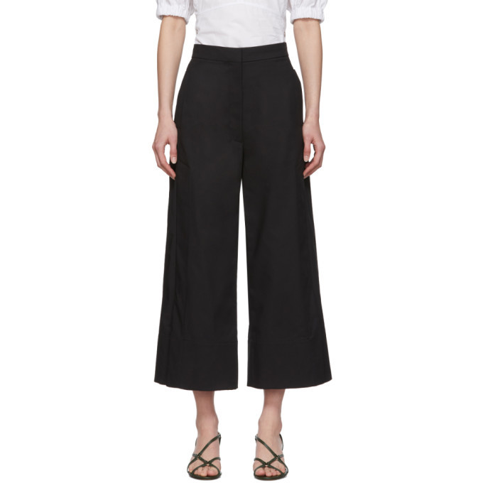 3.1 Phillip Lim Black Cropped Side Patch Trousers