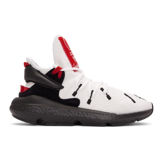 Y-3 White and Black Kusari II Sneakers