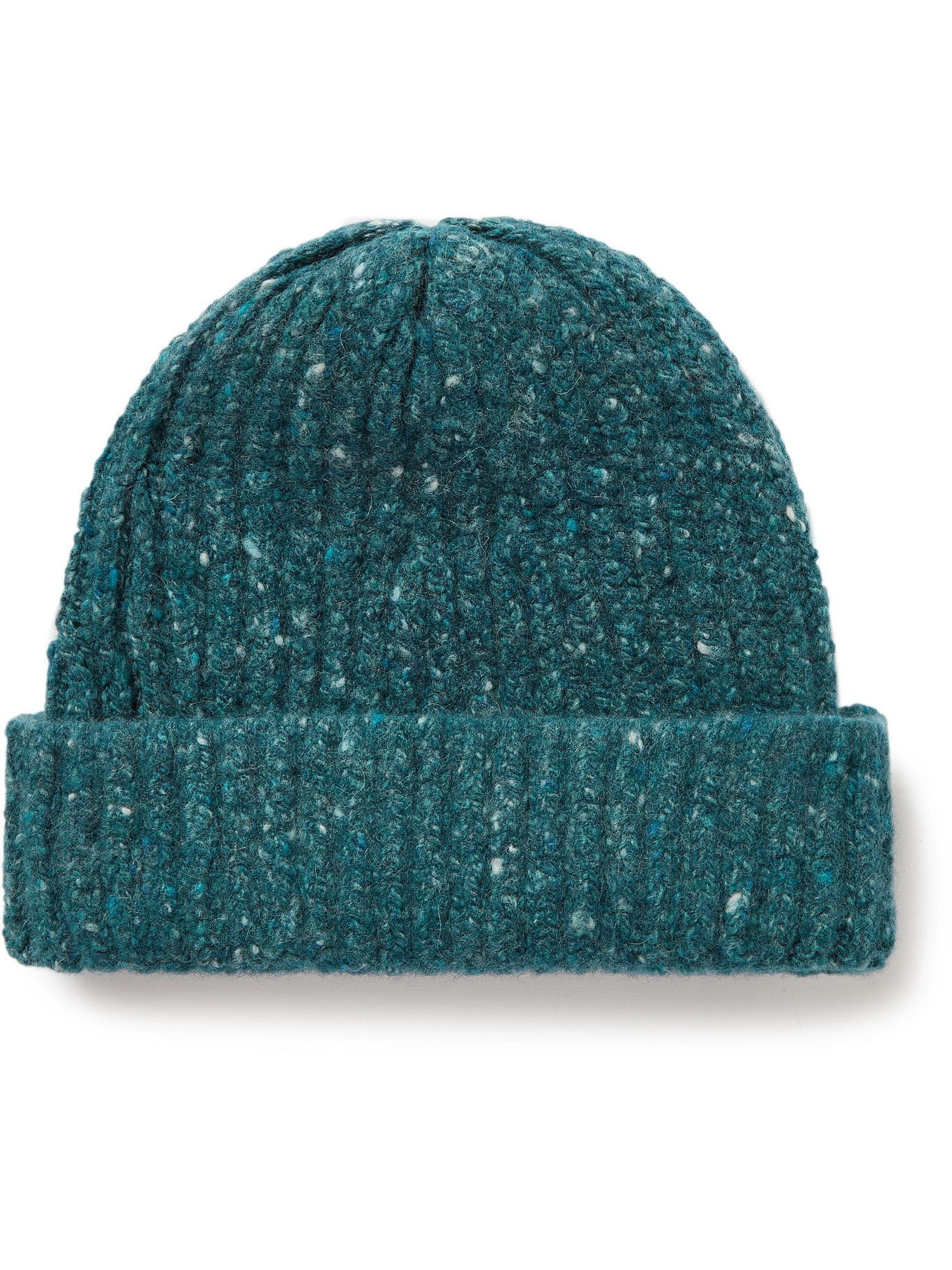 Photo: Inis Meáin - Ribbed Donegal Merino Wool and Cashmere-Blend Beanie