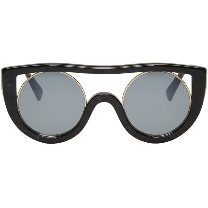941a731387 Oliver Peoples pour Alain Mikli Black and Gold Ayer Sunglasses ...