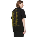 Raf Simons Black Tour Big Fit T-Shirt