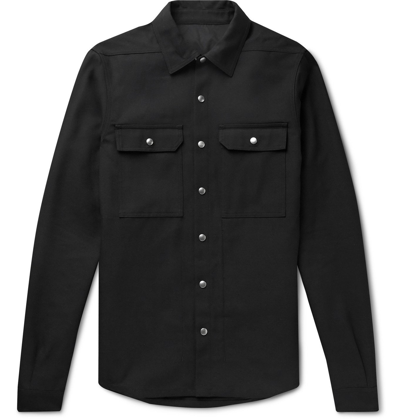 Photo: Rick Owens - Twill Overshirt - Black